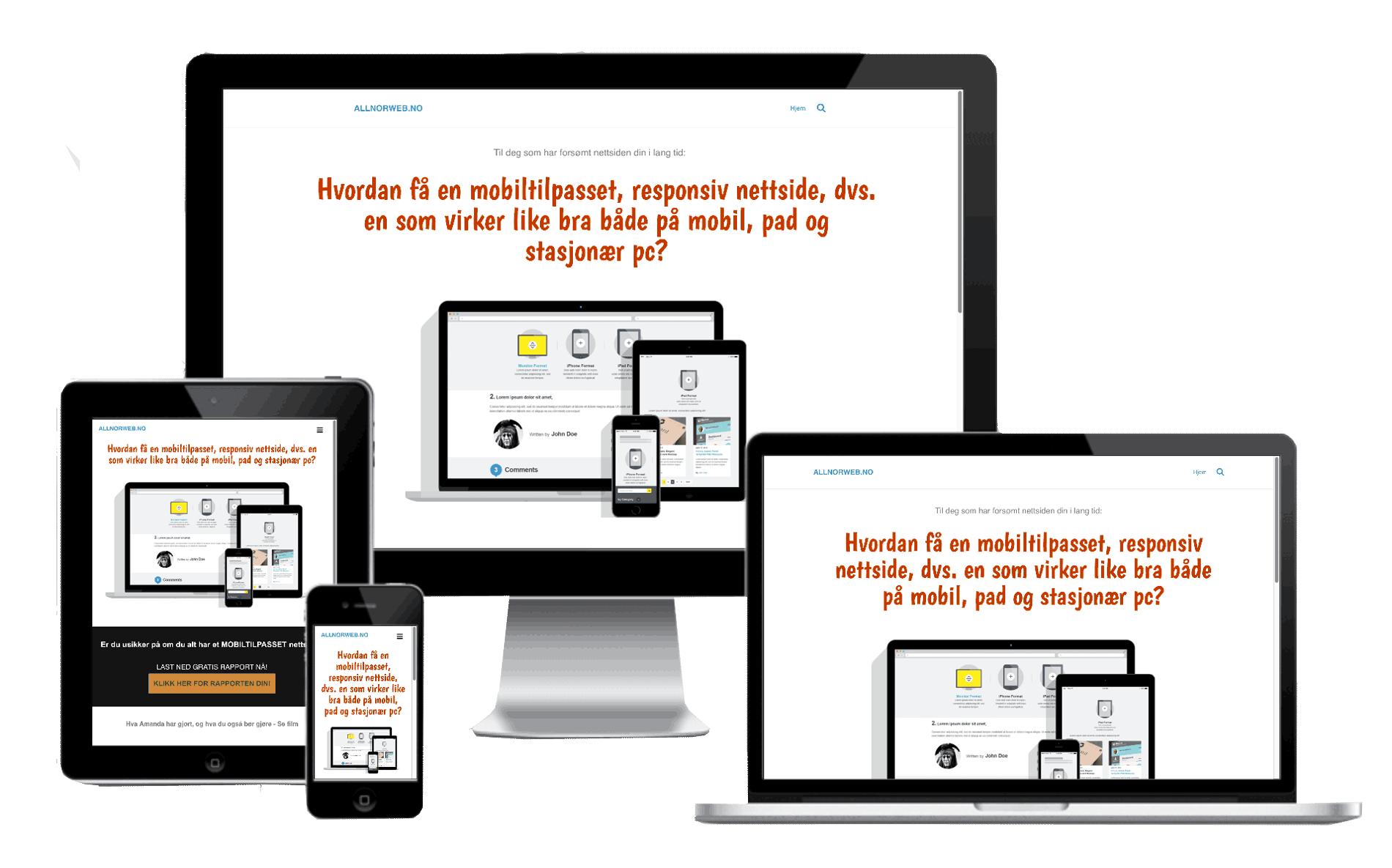 Allnorweb leverer responsive nettsider